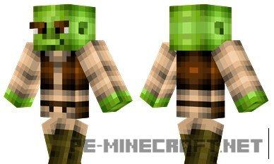 "Скин ""Шрек"" для Minecraft PE 0.12.X"