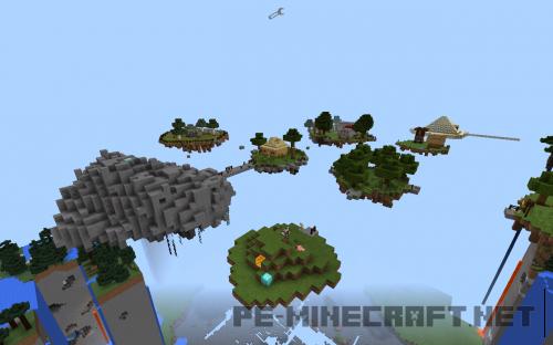 Карта Cloud Qwest для Minecraft PE 0.12.1