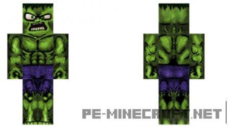 Hulk HD Skin для Minecraft PE 0.12.X