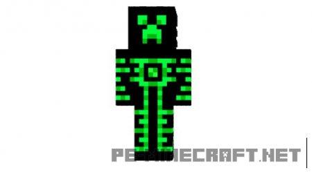 Скин Robot Creeper для Minecraft PE 0.12.X