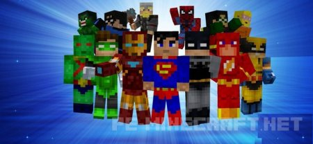 Набор из 33 скинов супер-героев [0.12.X]