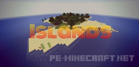 """Карта """"Острова"""" для MCPE 0.12.1"""
