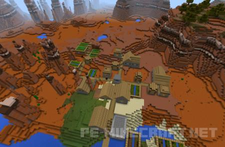 Сид на деревню в одиночном биоме
