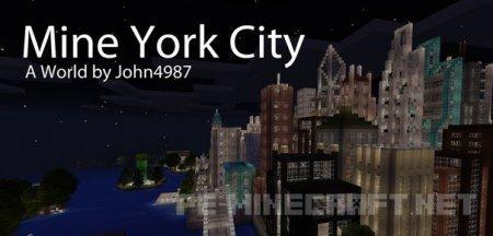 "Карта ""Нью-Йорк"" в MCPE 0.12"