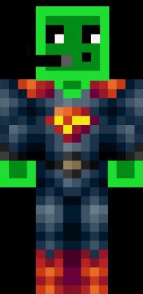 Скин зеленого слизня в костюме для Minecraft
