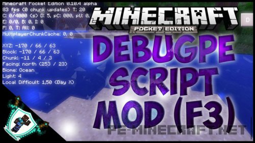 Мод DebugPE для MCPE 0.14.0