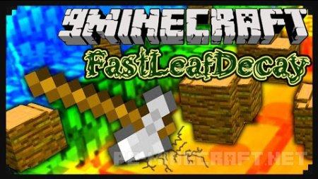 Мод FastLeafDecay для Minecraft 1.9