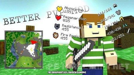 Мод Better PvP для Minecraft 1.9