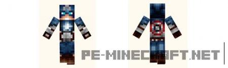 Скин Капитан Америка для Minecraft