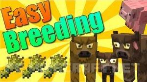 Мод Easy breeding для Minecraft 1.9