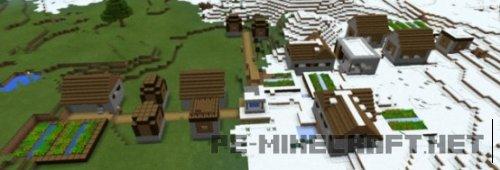 Сид Три деревни в биоме со снегом 0.15.0