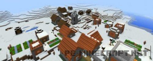 Сид Саванная деревня в снежном биоме 0.15.1