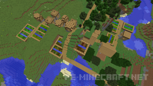 Сид на Ущелье с большой системой пещер для Minecraft 1.10.2
