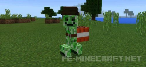 Мод Friendly Creeper для Minecraft PE 0.16.0