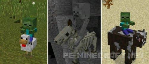 Мод More Jockeys для Minecraft PE 0.15.6