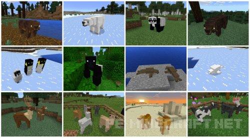 Мод на животных для MCPE 0.16.0