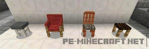 Аддон More Chairs для MCPE 0.16.0