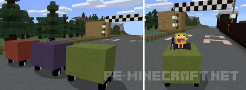 Аддон Mine-Car для Minecraft Pe 0.16.0