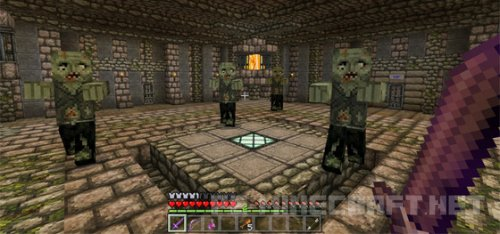 Карта The Dungeon Tower MCPE 0.16.0