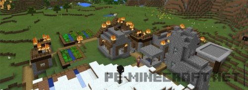 Аддон Fire Arrows для Minecraft PE 0.16.0
