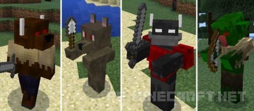 Аддон Fantasy Creatures Battle для Minecraft PE 0.17.0/1.0