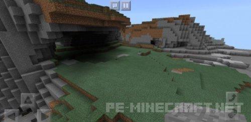 Сид на горы и пещеры необычного вида для MCPE 1.2
