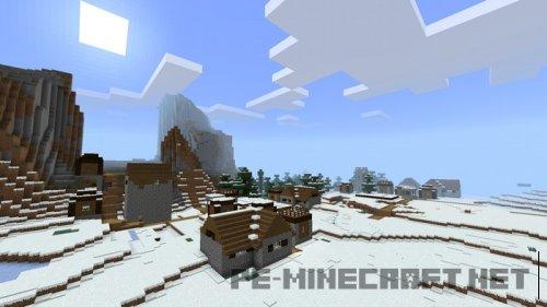 Сид на заснеженную деревню для MCPE 1.2