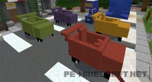 Мод на Автомобили для MCPE 1.2