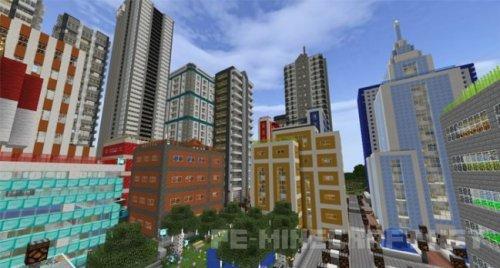 Карта RyanMinecraft71 City для MCPE 1.2
